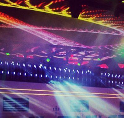 תצוגת אורות באולם בראשית
